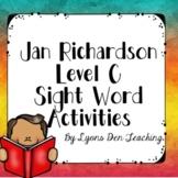 Jan Richardson No Prep Digital Level C Sight Word Activities