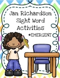 Jan Richardson Sight Word Activities - Emergent