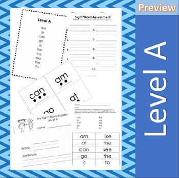 Jan Richardson Sight Word Assessment and Resources (Level A) - FREEBIE