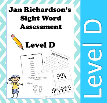 Jan Richardson Sight Word Assessment and Resources (Level D)