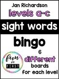 Jan Richardson:  Sight Word Bingo - Levels A to C
