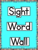 Jan Richardson Sight Word Wall | High Frequency Words | List A Word Shapes