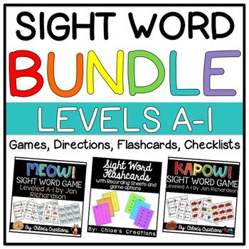 Jan Richardson Sight Words Bundle: Sight Word Games, Checklists, and Flashcards