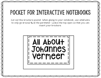 Jan Vermeer - Famous Artist Biography Research Project, Interactive Notebook