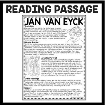 Jan van Eyck article and fill in the blank, Renaissance, Art History