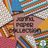Jana Paper Digital Collection - Colorful Chevrons, Stars a