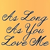 Janda As Long As You Love Me Font: Personal Use