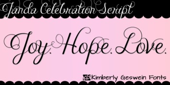 Janda Celebration Script Font: Personal Use