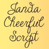 Janda Cheerful Script Font: Personal Use