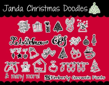 Janda Christmas Doodles Font: Personal Use