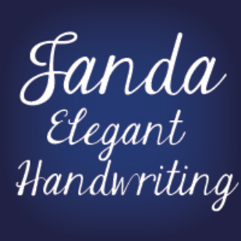 Janda Elegant Handwriting Font: Personal Use