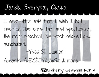 Janda Everyday Casual Font: Personal Use