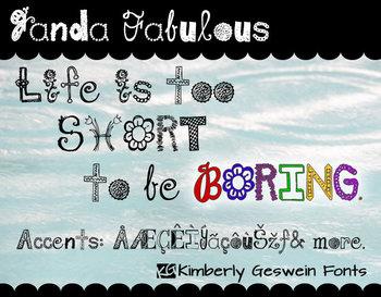 Janda Fabulous Font: Personal Use