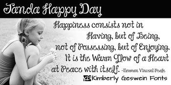 Janda Happy Day Font: Personal Use