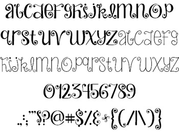Janda Hide And Seek Font: Personal Use
