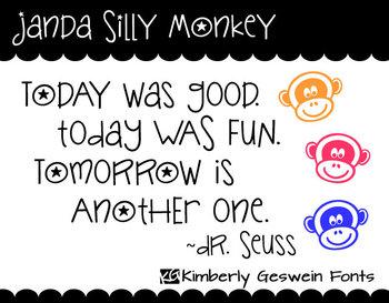 Janda Silly Monkey Font: Personal Use