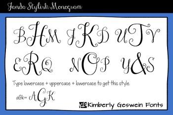 Janda Stylish Monogram Font: Personal Use