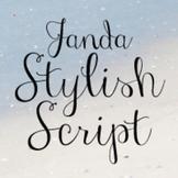 Janda Stylish Script Font: Personal Use
