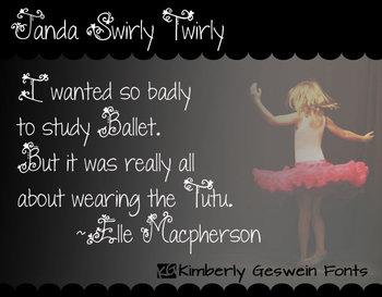Janda Swirly Twirly Font: Personal Use