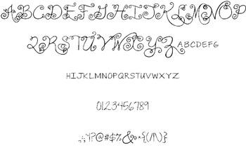 Janda Swirlygirl Font: Personal Use