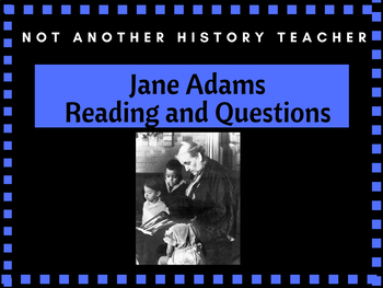 Jane Adams Reading and Questions