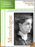 Women History- Jane Addams, Social Worker (1860 - 1935)