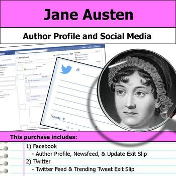 Jane Austen - Author Study - Profile and Social Media