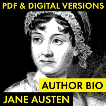 Jane Austen Author Study Worksheet, Easy Biography Activity, CCSS