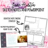 Jane Austen Sketch Notes with PowerPoint
