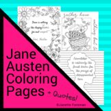 Jane Austen Coloring Pages (with Quotes!)   Posters   Regency Era