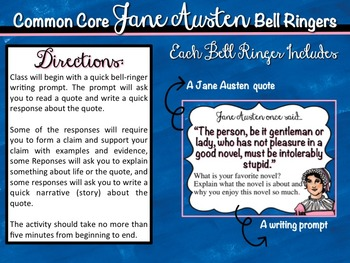 Jane Austen Common Core Bell Ringers