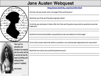 Jane Austen Webquest