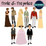 Jane Austen's Pride and Prejudice Inspired Clipart {Growing Set}