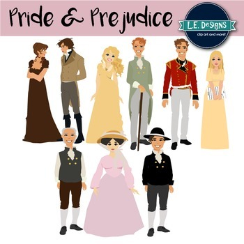 Jane Austen's Pride and Prejudice Inspired Clipart {Growing Set}