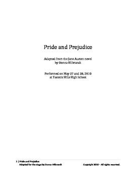 Jane Austen's Pride and Prejudice - A Stage Adaptation