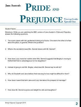 Jane Austen's Pride and Prejudice Viewing Guide (BBC version)