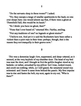 Jane Eyre Anticipation Passages