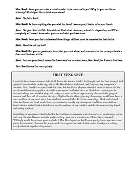 Jane Eyre Chapters 3 & 4 Script and Excerpts