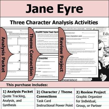 Jane Eyre - Character Analysis Packet, Theme Connections, & Project