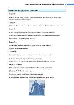 Jane Eyre Comprehension Questions and Answers