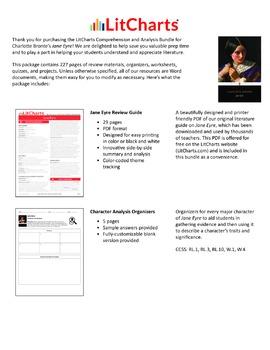 Jane Eyre – Comprehension and Analysis Bundle