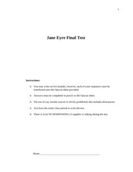 Jane Eyre Exam