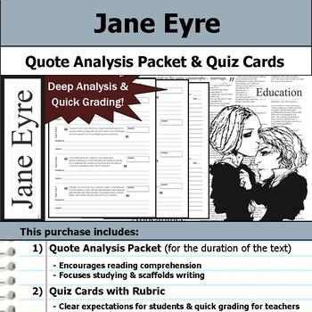 Jane Eyre - Quote Analysis & Reading Quizzes