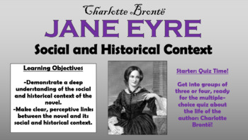 Jane Eyre - Social and Historical Context!