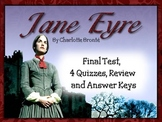 JANE EYRE TEST, QUIZZES, REVIEW, AND ANSWER KEYS