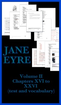 Jane Eyre Unit #2 (test and vocabulary with answers and page numbers)