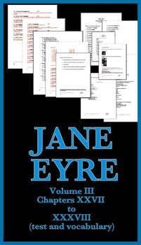 Jane Eyre Unit #3 (test and vocabulary with answers and page numbers)