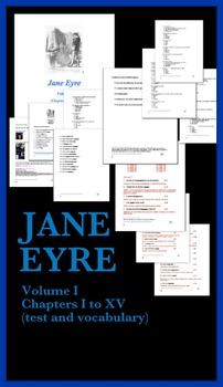 Jane Eyre Unit #1 (test and vocabulary with answers and pa