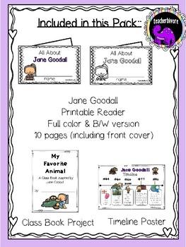 Jane Goodall Activity Pack