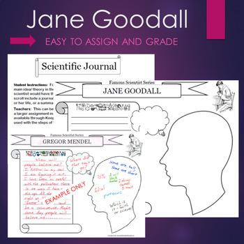 Jane Goodall Biography Graphic Organizer Interactive Journal